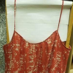 Rust belted gentle worn dress
